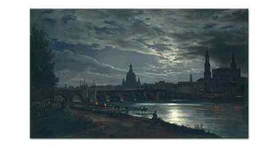 Johan Christian Dahl Dresden'den Dolunaya Bakış