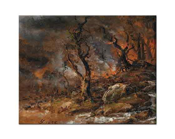 Johan Christian Dahl Orman Yangını