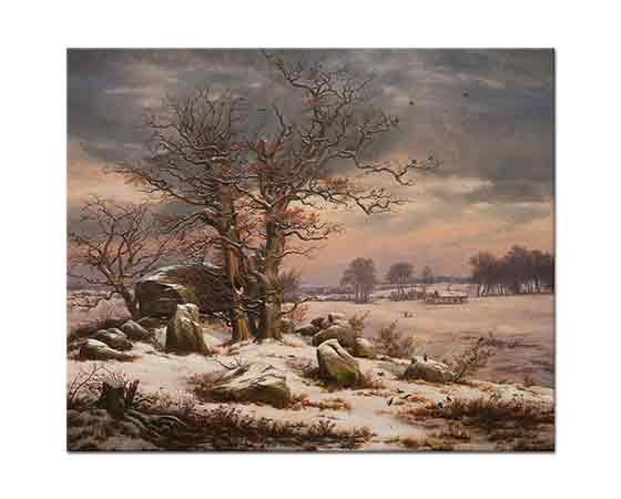 Johan Christian Dahl Vordingborg'dan Kış