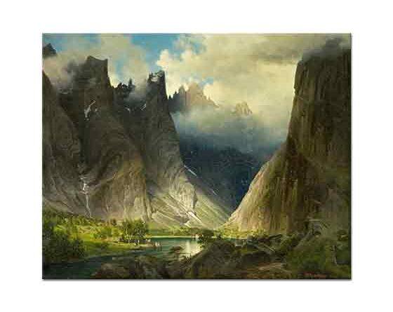 Johan Fredrik Eckersberg Dağlar Arasında