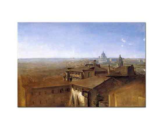 Johann Georg von Dillis Roma St Peters'e Bakış