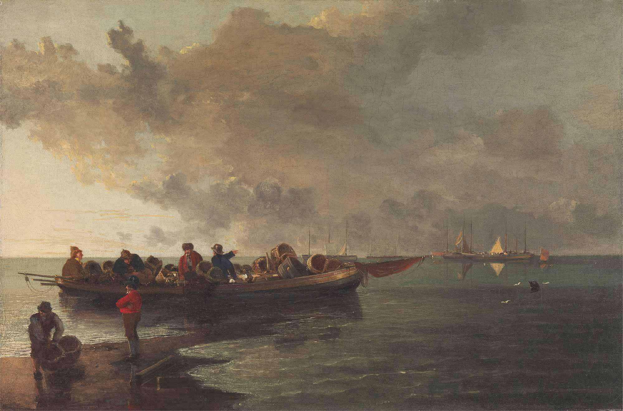 John Crome Yaralı Asker Taşıyan Tekne
