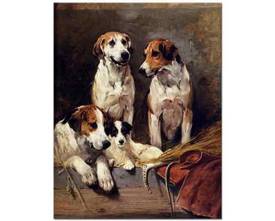 John Emms üç Köpek ve Avcı Terrier