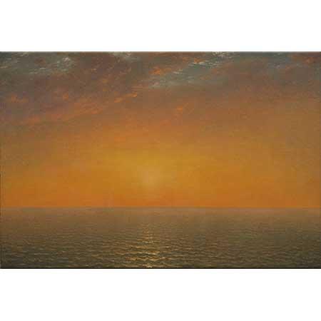 John Frederick Kensett Denizde Gün Batımı