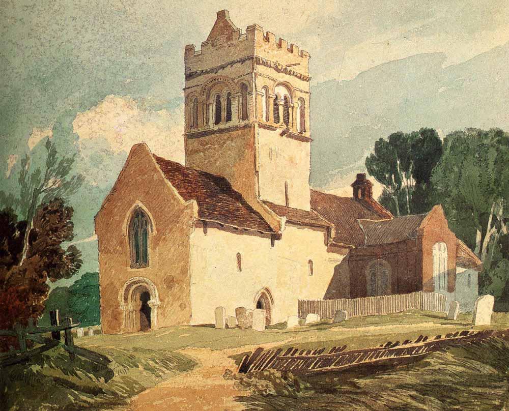 John Sell Cotman Gillingham Kilisesi