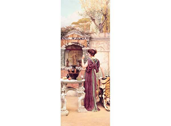 John William Godward Bahçe Tapınağı Pompei