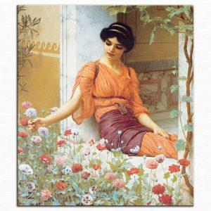 John William Godward Yaz Çiçekleri