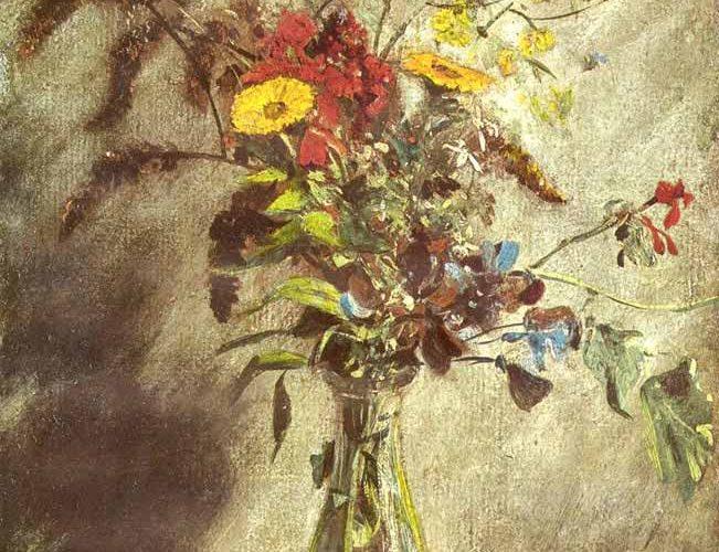 John Constable Cam Vazoda Çiçekler