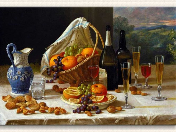 John F Francis Hafif öğle Yemeği Natürmort