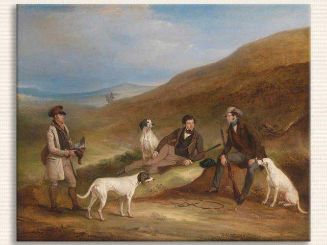 John Ferneley Edward Horner Reynard ve Kardeşi George Grouse Av Molasında