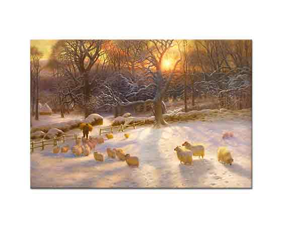 Joseph Farquharson Kısa Kış Gününde