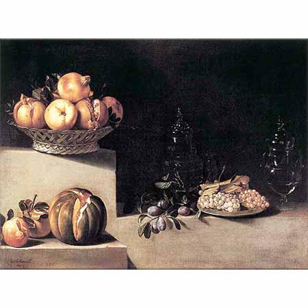 Juan van der Hamen Cam Eşya ve Meyveler