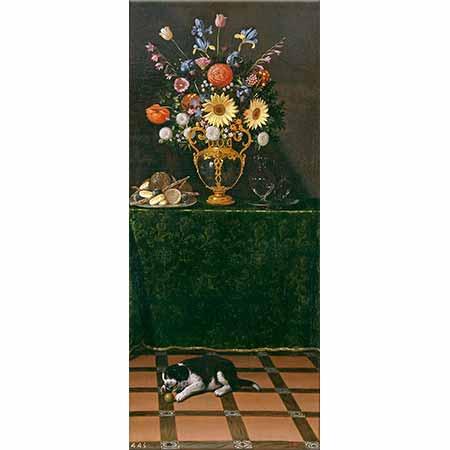 Juan van der Hamen Yavru Köpekli Natürmort