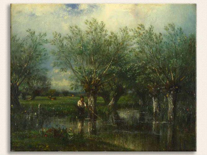 Jules Dupre Balık Avı tablosu