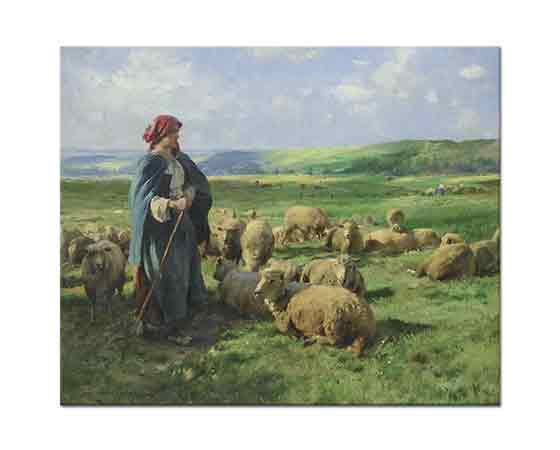 Julien Dupre, Çoban Kız ve Sürüsü