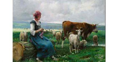 Julien Dupre, Keçi inek ve Koyunlarla Birlikte Çoban Kız