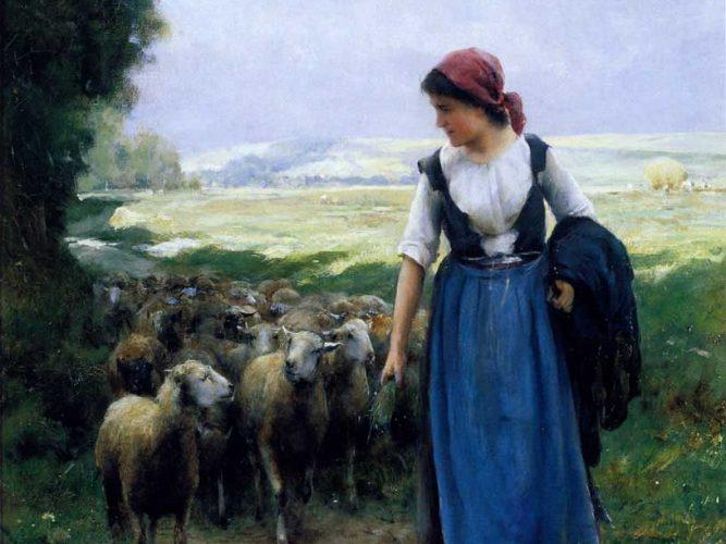 Julien Dupre Genç Çoban tablosu