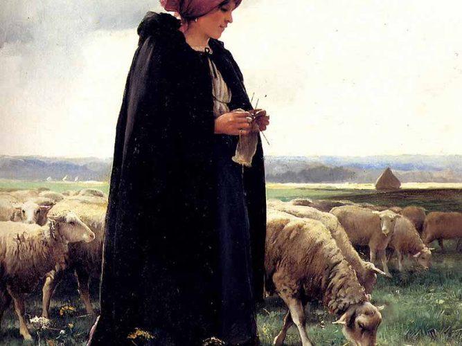 Julien Dupre Çoban Kız ve Sürüsü