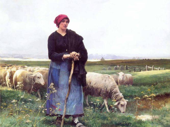 Julien Dupre Çoban Kız Sürüsüyle