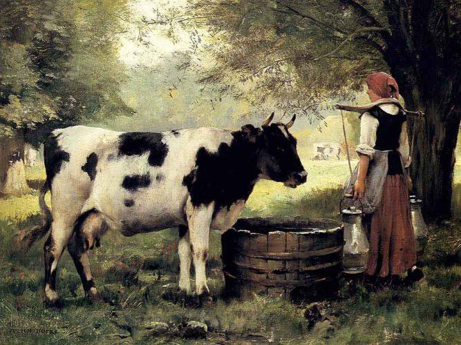 Julien Dupre Sütçü Kız tablosu