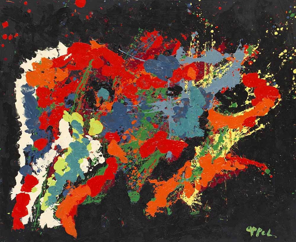 Karel Appel Soyut Kırmızı