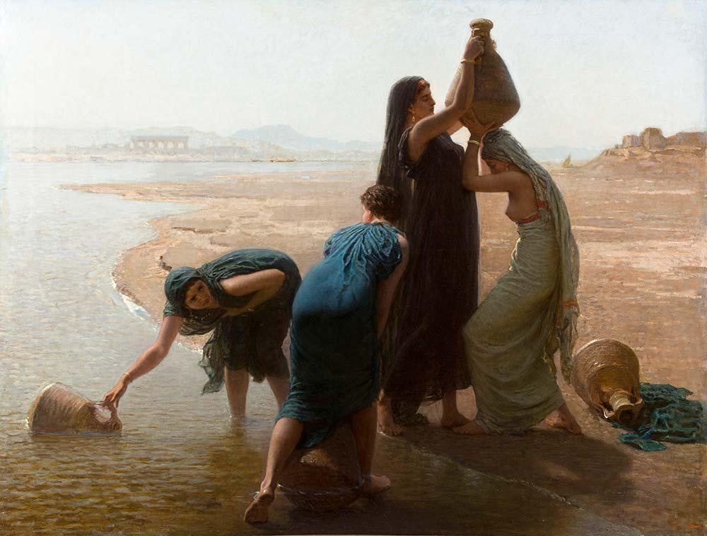 Leon Belly Nil Nehrinden Su Alan Kızlar