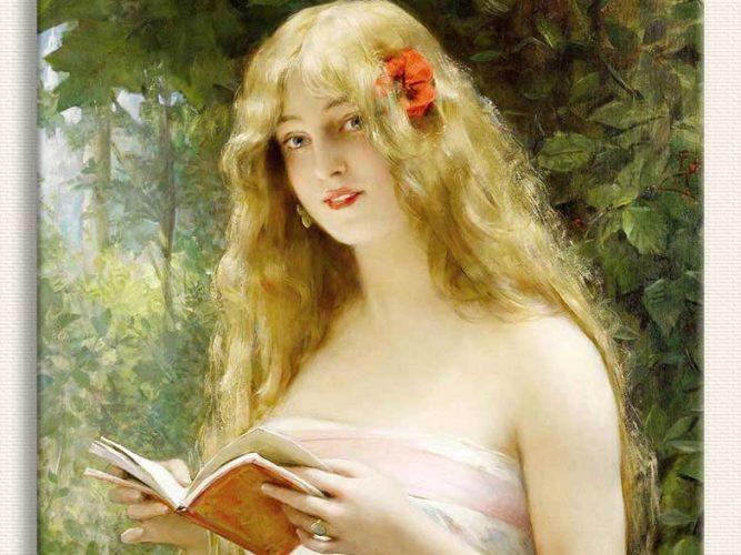Leon François Comerre ışıkta Okuyan Dilber