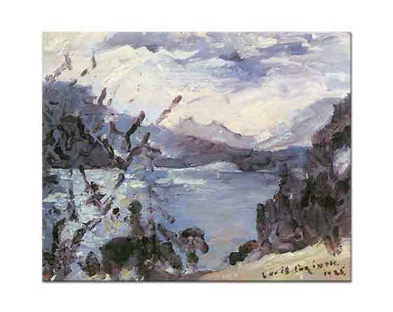 Lovis Corinth Dağları ve Kıyısıyla Walchensee