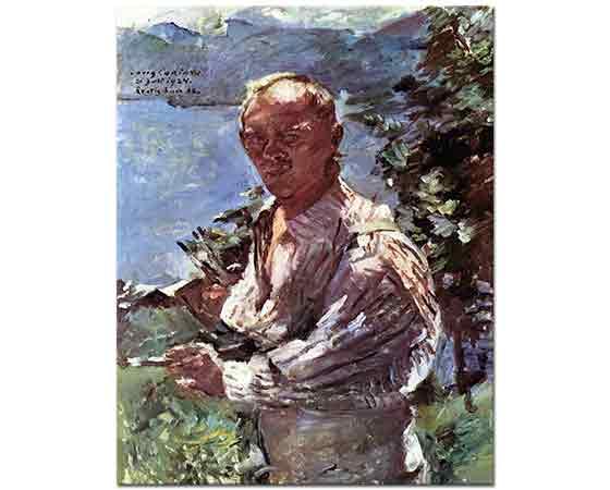 Lovis Corinth Kendi Portresi Walchensee'de