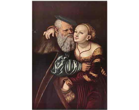 Lucas Cranach Aşık ihtiyar
