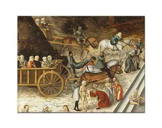 Lucas Cranach Gençlik Havuzu Resminden Ayrıntı