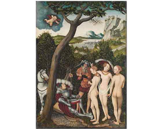 Lucas Cranach Paris'in Yargılanışı