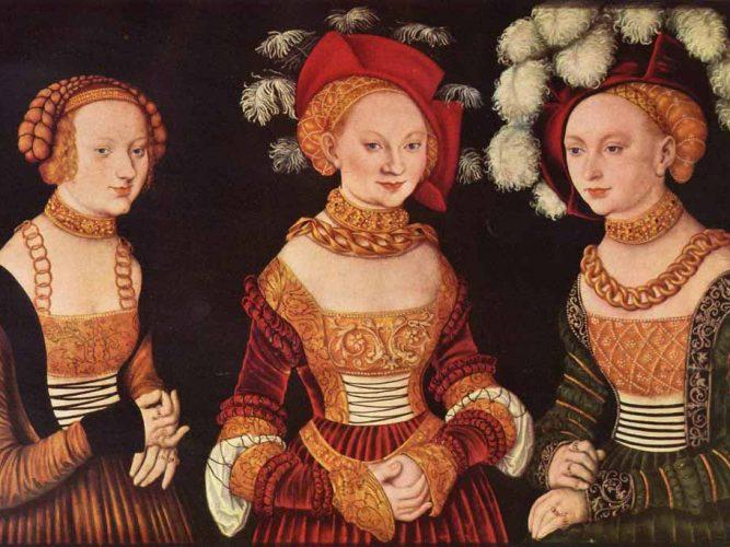 Lucas Cranach Sakson Prensesleri Sibylla, Emilla ve Sidonia