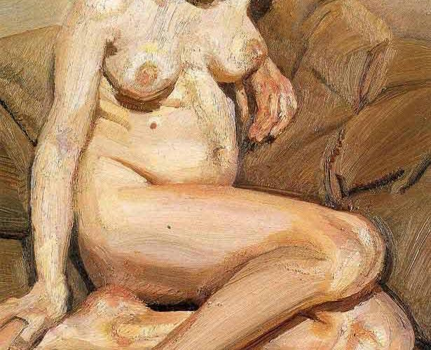 Lucien Freud Oturan Nü tablosu