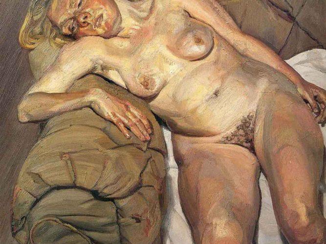 Lucien Freud Koltukta Nü tablosu