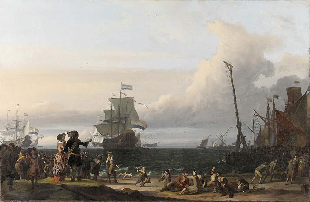 Ludolf Backhuysen Dutch Gemileri Texel Önlerinde