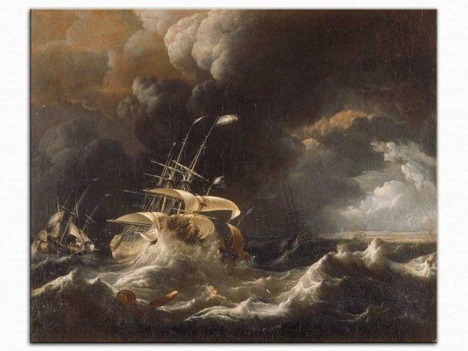 Ludolf Backhuysen Fırtınada Gemi
