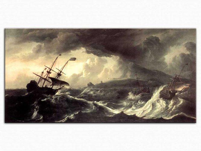 Ludolf Backhuysen Fırtınada Gemiler