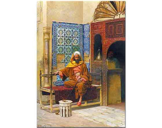 Ludwig Deutsch Sigara içen Arap