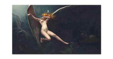 Luis Ricardo Falero Yıldızlı Gökteki Peri