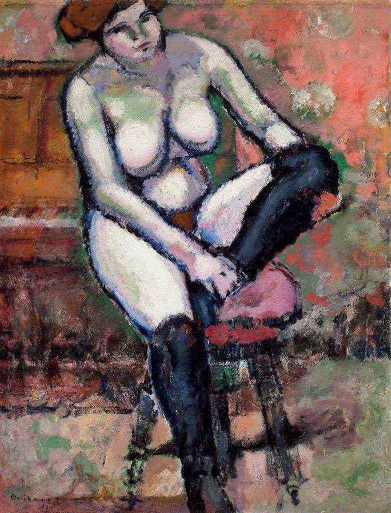 Marcel Duchamp Siyah Çoraplı Çıplak
