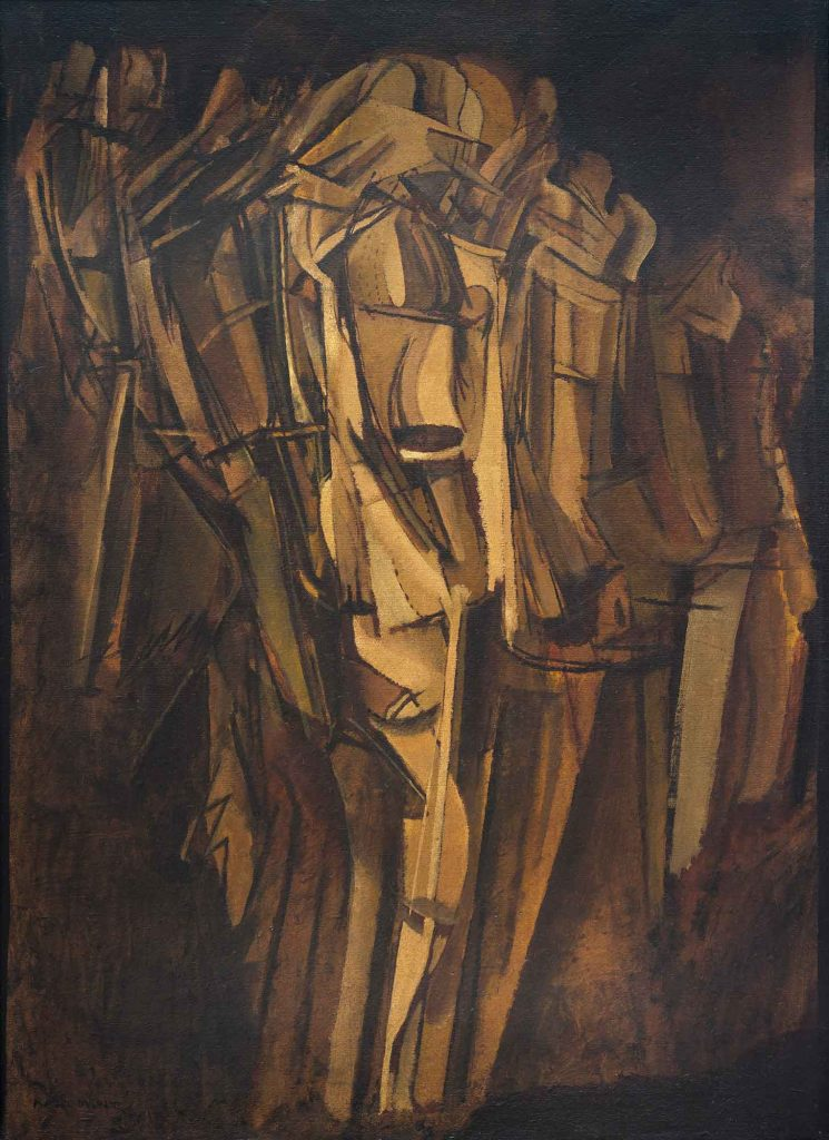 Marcel Duchamp Trende üzgün Genç Adam