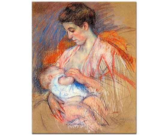 Mary Cassatt Bebeğini Emziren Jeanne