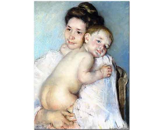 Mary Cassatt Bebeğini Kucaklayan Berthe