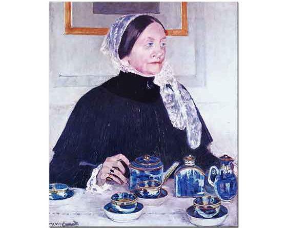 Mary Cassatt Çay Masasında Kadın