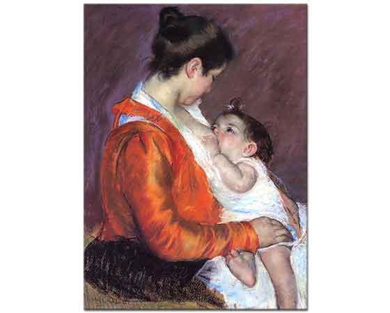 Mary Cassatt Çocuğunu Emziren Louise