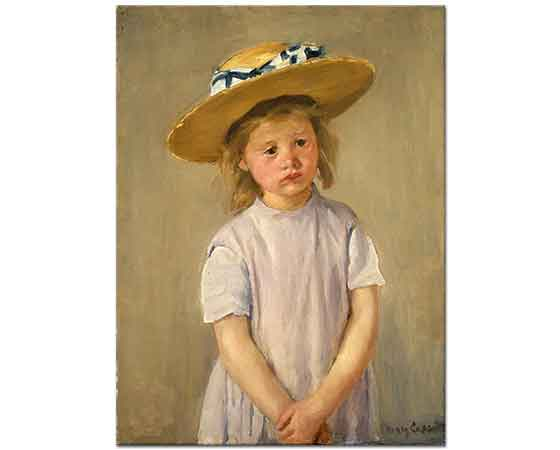 Mary Cassatt Hasır Şapkalı Çocuk