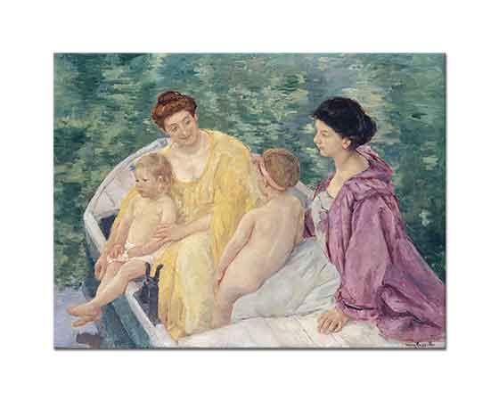 Mary Cassatt iki Anne ve Çocukları ile Sandalda