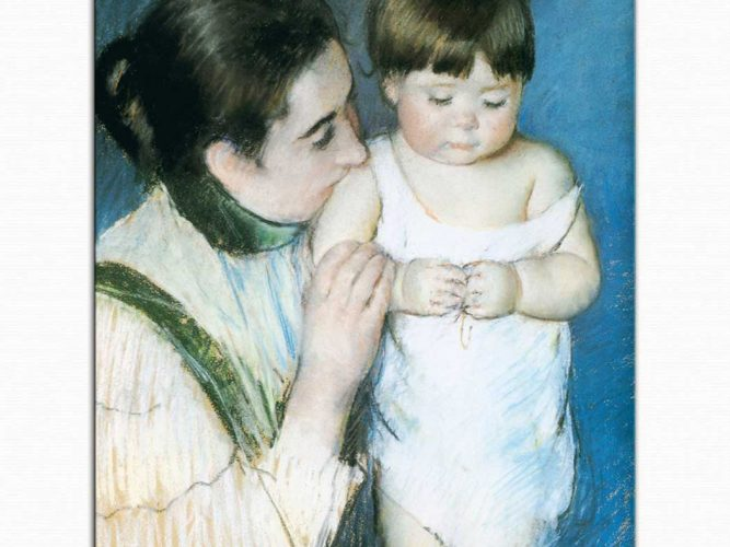 Mary Cassatt Küçük Thomas ve Annesi