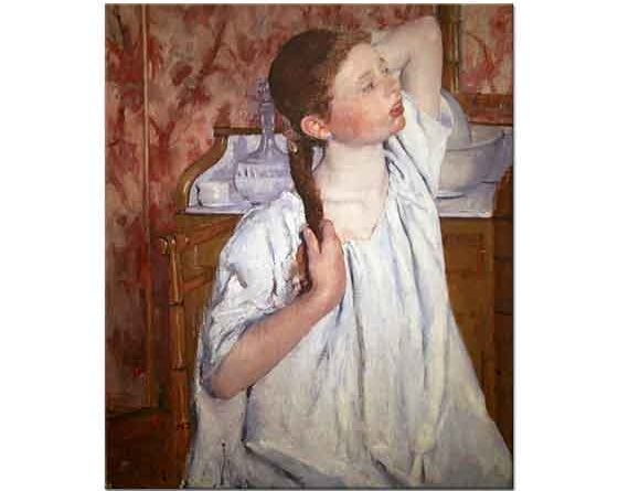 Mary Cassatt Saçını Düzelten Kız